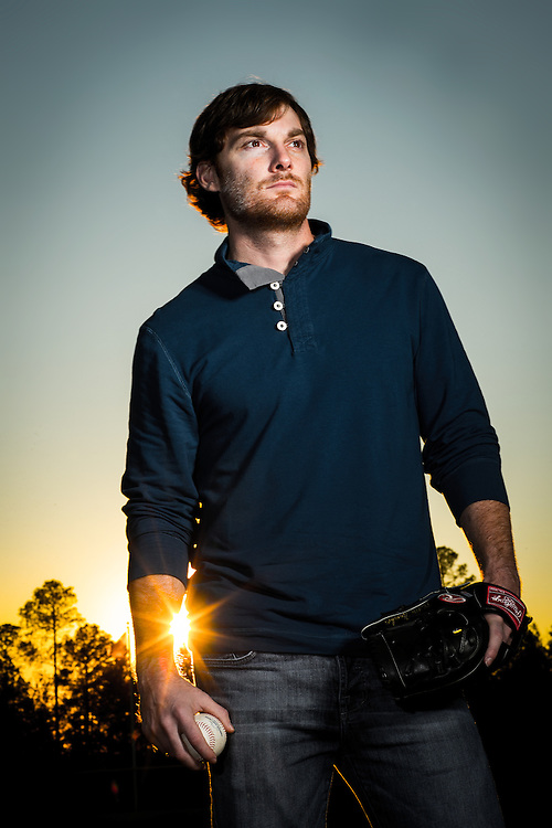 Philip Humber, Houston Astros pitcher, photographed at home in in Tyler, Texas.