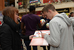 Bristol City's Joe Bryan signs autographs - Photo mandatory by-line: Dougie Allward/JMP - Mobile: 07966 386802 - 11/03/2015 - SPORT - Football - Bristol - Cabot Circus Shopping Centre - Johnstone's Paint Trophy