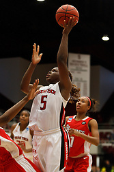 March 19, 2011; Stanford, CA, USA; Texas Tech Lady Raiders guard Christine Hyde (5) shoots against the St. John's Red Storm during the second half of the first round of the 2011 NCAA women's basketball tournament at Maples Pavilion. St. John's defeated Texas Tech 55-50.