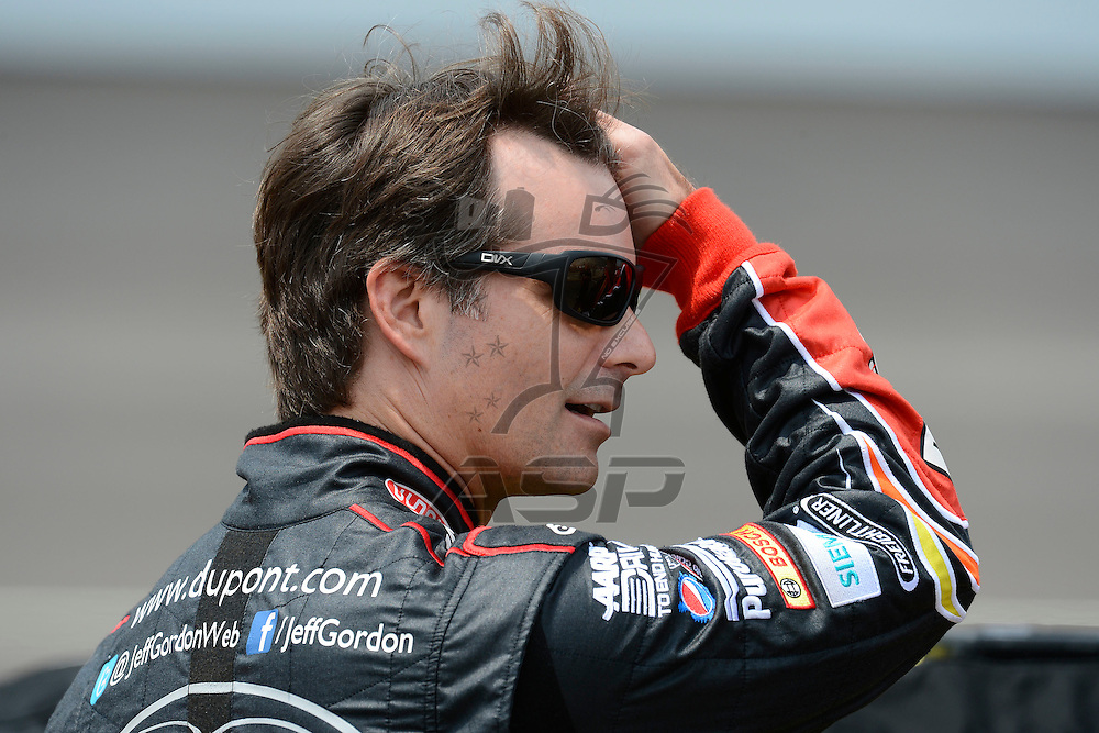Brooklyn, MI - JUN 16, 2012:  Jeff Gordon (24) during qualifying for the Quicken Loans 400 race at the Michigan International Speedway in Brooklyn, MI.