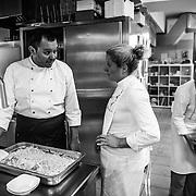 Kobarid - Hiša Franko. Ana Ros in cucina