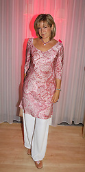 TV presenter PENNY SMITH  at the annual Laurent Perrier Pink Party held at The Sanderson Hotel, Berners Street, London on 27th April 2005.<br />
