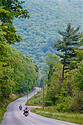 Northcentral Pennsylvania, Motorcyclists, winding mountain road