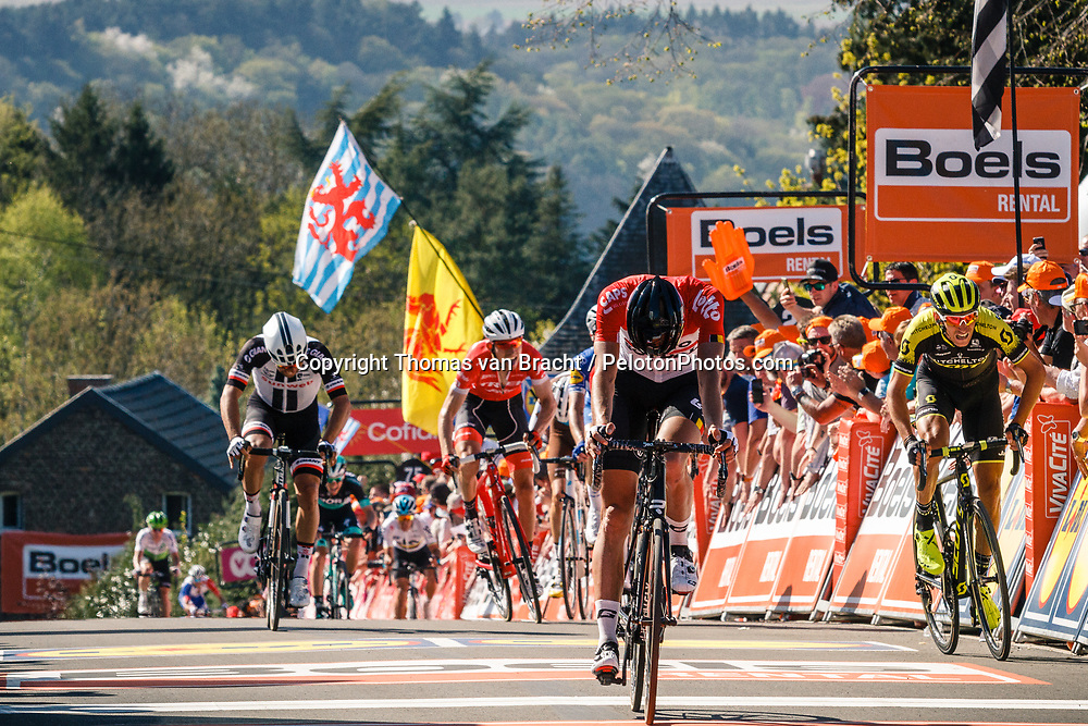 VANENDERT Jelle of Lotto Soudal finishing 3rd during the 2018 La Flèche Wallonne race, Huy, Belgium, 18 April 2018, Photo by Thomas van Bracht / PelotonPhotos.com | All photos usage must carry mandatory copyright credit (Peloton Photos | Thomas van Bracht)