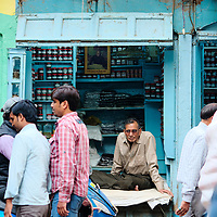 Shop in the old town of Varanasi