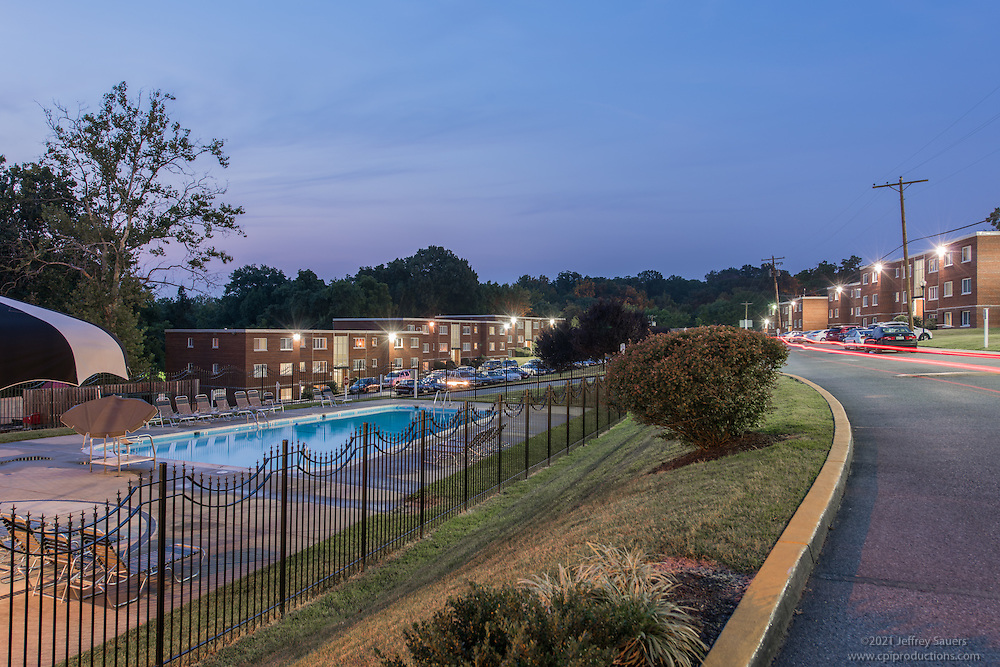 Exterior Image of Toledo Plaza Apatments in Hyattsville Maryland by Jeffrey Sauers of Commercial Photographics, Architectural Photo Artistry in Washington DC, Virginia to Florida and PA to New England