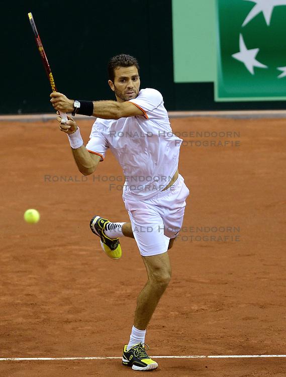 13-09-2014 NED: Davis Cup Nederland - Kroatie, Amsterdam<br /> Jean-Julien Rojer