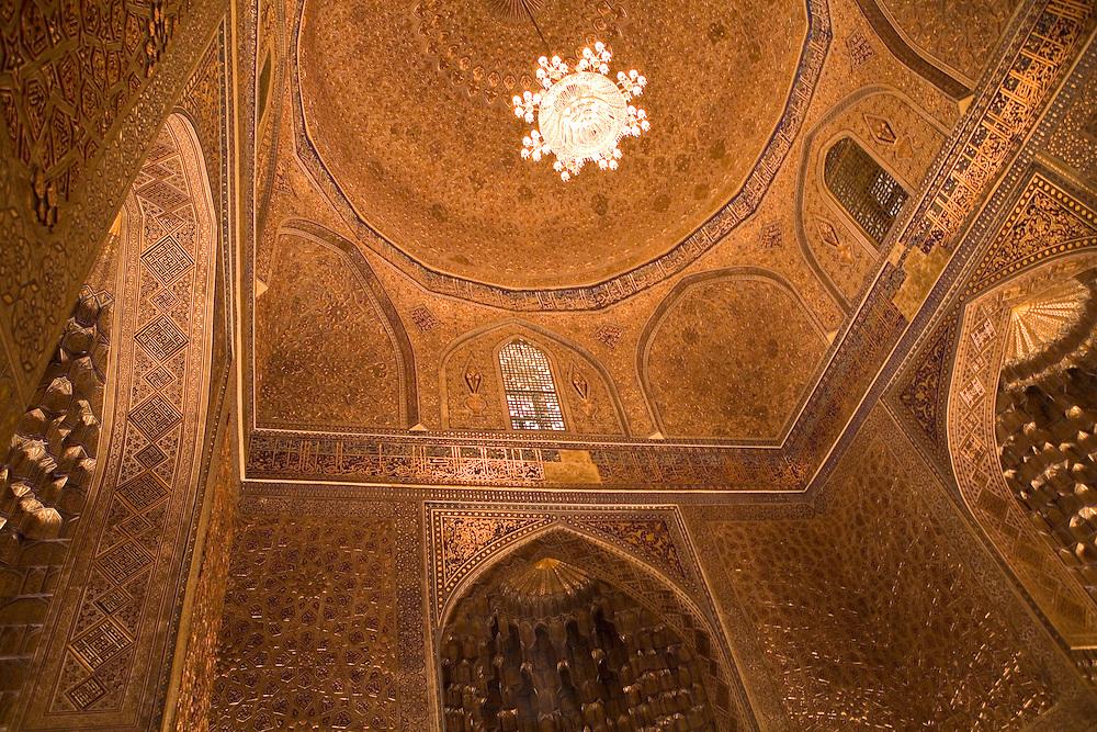 Detail inside Guri Amir (Timur's) Mausoleum, Samarkand