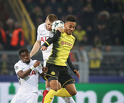 November 21, 2017 - Dortmund, Germany - Pierre-Emerick Aubameyang of Borussia Dortmund during the UEFA Champions League group H match between Borussia Dortmund and Tottenham Hotspur at Signal Iduna Park on November 21, 2017 in Dortmund, Germany. (Credit Image: © Ahmad Mora/NurPhoto via ZUMA Press)