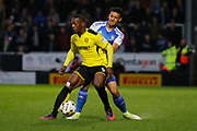 Burton Albion striker Marvin Sordell (9) during the EFL Sky Bet Championship match between Burton Albion and Ipswich Town at the Pirelli Stadium, Burton upon Trent, England on 14 April 2017. Photo by Richard Holmes.