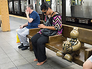 Tom Otterness sculptures in the 14th street subway station in New York City