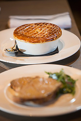 The lamb pie and chips. Tam Cowan restaurant review, The Printing Press, Carlton George Hotel, George Street, Edinburgh