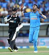 India's Hardik Pandya during the Fifth ODI of the 2019 ANZ International ODI Series. Blackcaps v India at Westpac Stadium, Wellington, Sunday 3rd February 2019. © Copyright Photo: Grant Down / www.photosport.nz