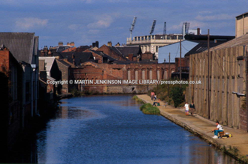 Fishing on the canal in Sheffield ....