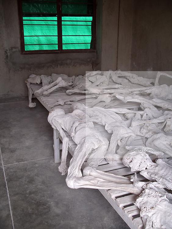 Murambi Genocide Memorial, Gikongoro, where 27000 people died during 1994 genocide.