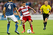 FRISCO, TX - AUGUST 11:  Blas Perez #7 of FC Dallas controls the ball against the Los Angeles Galaxy on August 11, 2013 at FC Dallas Stadium in Frisco, Texas.  (Photo by Cooper Neill/Getty Images) *** Local Caption *** Blas Perez