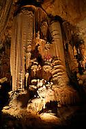 France, Languedoc Roussillon, Hérault, Saint Bauzille de Putois, la grotte des Demoiselles, le buffet d'orgue