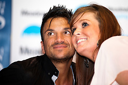"Peter Andre poses with fans and Signs copies of his new childrens books ""The Happy Birthday Party"" and ""A New Day at School"" in WH Smiths Sheffield on 6th September2011 Image © Paul David Drabble"