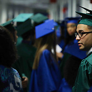 Thomas McKean High School graduates prepare to participate in a graduation processional prior to McKean 49th commencement exercises Saturday, June 06, 2015, at The Bob Carpenter Sports Convocation Center in Newark, Delaware.