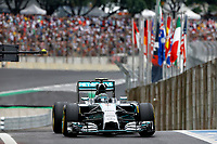 ROSBERG Nico (Ger) Mercedes Gp Mgp W05 action   during the 2014 Formula One World Championship, Brazil Grand Prix from November 6th to 9th 2014 in Sao Paulo, Brazil. Photo Frederic Le Floch / DPPI.