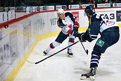 04.01.2015, Dom Sportova, Zagreb, CRO, KHL League, KHL Medvescak vs Slovan Bratislava, 43. Runde, im Bild Luza Patrik. // during the Kontinental Hockey League 43th round match between KHL Medvescak and Slovan Bratislava at the Dom Sportova in Zagreb, Croatia on 2015/01/04. EXPA Pictures © 2015, PhotoCredit: EXPA/ Pixsell/ Davor Puklavec<br /> <br /> *****ATTENTION - for AUT, SLO, SUI, SWE, ITA, FRA only*****