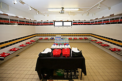 CARDIFF, WALES - Friday, August 19, 2016: The Wales home dressing room ahead of the international friendly match against Republic of Ireland at Rodney Parade (Pic by Laura Malkin/Propaganda)
