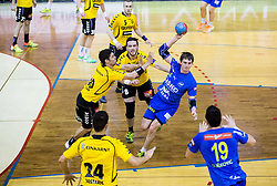 Sebastian Skube of Celje PL during handball match between RK Gorenje Velenje and RK Celje Pivovarna Lasko in Final match of 1st NLB League - Slovenian Championship 2013/14 on May 23, 2014 in Rdeca dvorana, Velenje, Slovenia. Photo by Vid Ponikvar / Sportida
