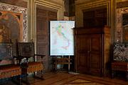 Italian geopolitical map. Rome 23 September 2018. Christian Mantuano / OneShot