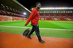 LIVERPOOL, ENGLAND - Wednesday, March 2, 2016: Liverpool's Kolo Toure arrives before the Premier League match against Manchester City at Anfield. (Pic by David Rawcliffe/Propaganda)