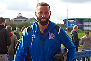 Rochdale forward Aaron Wilbraham entering the stadium. EFL Sky Bet League 1 match between Bolton Wanderers and Rochdale at the University of  Bolton Stadium, Bolton, England on 19 October 2019.