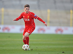 SOFIA, BULGARIA - Wednesday, November 26, 2014: Liverpool's Harry Wilson in action against PFC Ludogorets Razgrad during the UEFA Youth League Group B match at the Georgi Asparuhov Stadium. (Pic by David Rawcliffe/Propaganda)