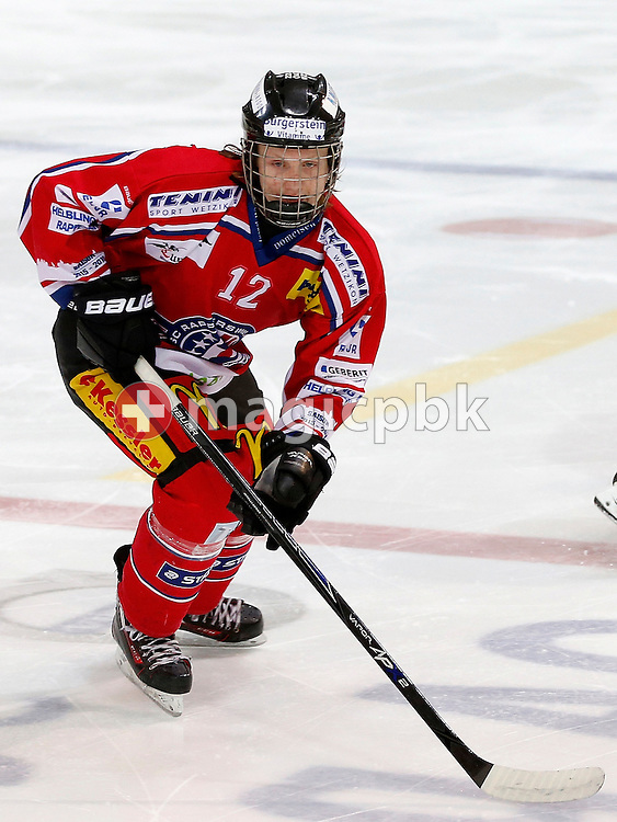 Rapperswil-Jona Lakers forward Luca SCHOMMER is pictured during a Novizen Elite ice hockey game between Rapperswil-Jona Lakers and SC Bern Future held at the Diners Club Arena in Rapperswil, Switzerland, Saturday, Feb. 6, 2016. (Photo by Patrick B. Kraemer / MAGICPBK)
