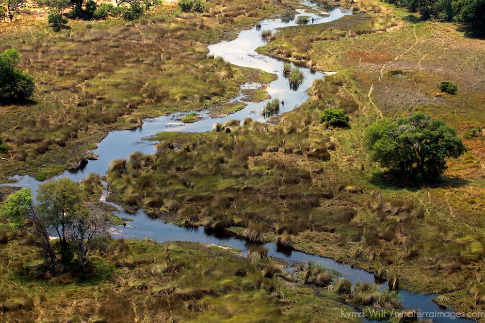 Africa, Botswana, Okavango Delta. Okavango tributary and landscape.