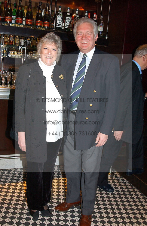 SIR JEREMY & LADY HANLEY at a fund raising dinner hosted by Marco Pierre White and Frankie Dettori's in aid of Conservative Party's General Election Campaign Fund held at Frankie's No.3 Yeoman's Row,æLondon SW3 on 17th January 2005.<br /><br />NON EXCLUSIVE - WORLD RIGHTS
