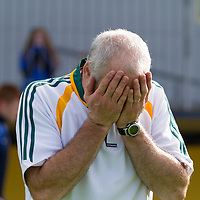 Feakle's Bainistiocht Tommy Guilfoyle showing emotion after their Intermediate Hurling FInal win