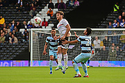 Fulham FC midfielder Jozabed (23) wins the ball from Queens Park Rangers midfielder Massimo Luongo (21) during the EFL Sky Bet Championship match between Fulham and Queens Park Rangers at Craven Cottage, London, England on 1 October 2016. Photo by Jon Bromley.