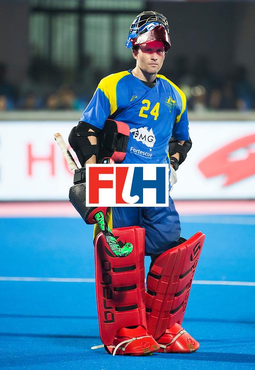 BHUBANESWAR - keeper Tyler Lovell (Aus)  Hockey World League finals , Final Australia-Argentina (2-1) . Australia wint de finale. COPYRIGHT KOEN SUYK