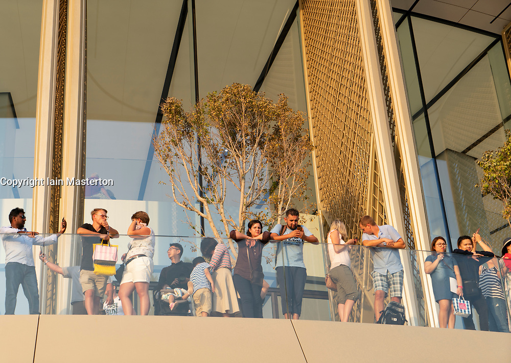 Exterior of the new Apple Store in the Dubai Mall in Dubai, United Arab Emirates.