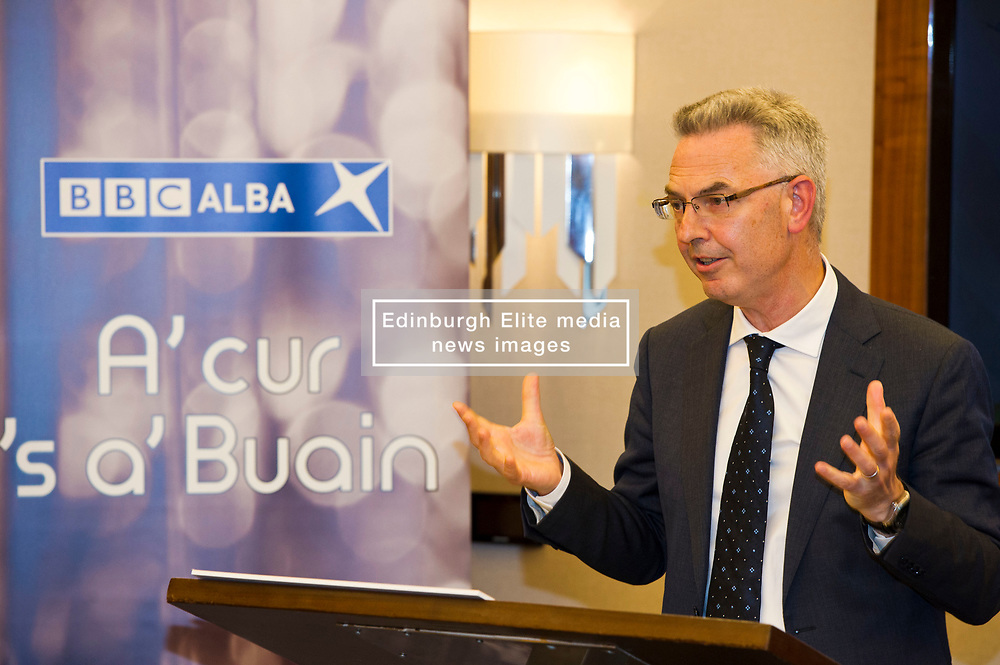 Pictured: Chris Young<br /> <br /> At today's launching of MG ALBA's annual report, Maggie Cunningham, chair of MG ALBA, and Chris Young, Producer of the Inbetweeners it was announced that BBC Alba have agreed a four-year production deal for Bannan<br /> <br /> New multi-year deal to boost production capability and marks investment in creative Gaelic skills.  Funded by MG ALBA, the Gaelic Media Service - one of the partners behind BBC ALBA – the new contract with Young Films secures the future of the channel's drama series, Bannan and marks a significant investment in drama for the channel. <br /> <br /> Filmed on the Isle of Skye, and produced by  Young, 23 episodes of Bannan have been produced since 2014, with five of those due to be aired on BBC ALBA in the autumn. The success of Bannan has led to an international deal being signed for the series with DRG, one of the leading independent distributors of programmes in the world. The new contract, running until 2021, will lead to at least 20 episodes being produced for the channel. The announcement was made prior to a screening of Bannan at the Edinburgh International Film Festival, and coincided with the launch of MG ALBA's annual report for 2016/17. <br />  <br /> <br /> Ger Harley | EEm 25 June 2017