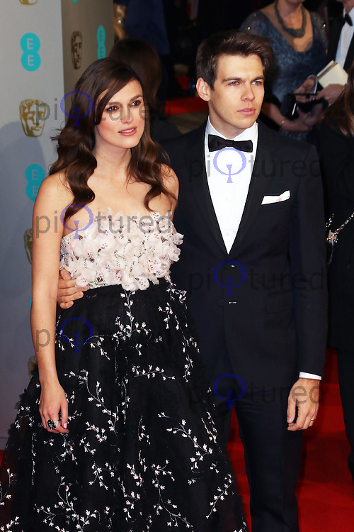 Keira Knightley, James Righton, EE British Academy Film Awards (BAFTAs), Royal Opera House Covent Garden, London UK, 08 February 2015, Photo by Richard Goldschmidt