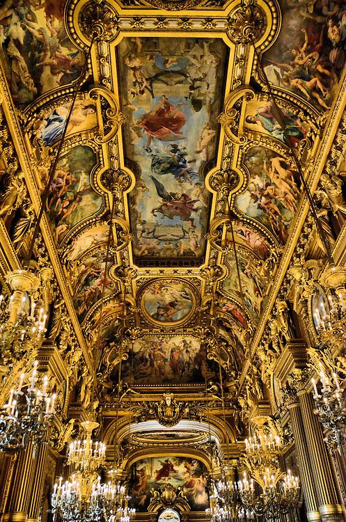 Opera House Western Foyer : Palais garnier opera house grand foyer in paris france