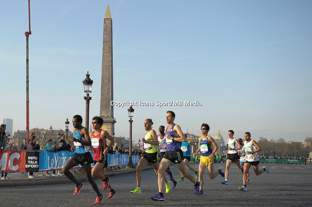 Illustration place de la Concorde - 12.04.2015 - Marathon de Paris 2015<br />Photo :  Andre Ferreira  / Icon Sport