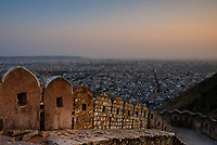 JAIPUR, INDIA - CIRCA NOVEMBER 2016: Panoramic View of Jaipur from the Fort Nahargarh