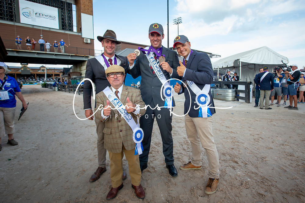 Degrieck Dries, Simonet Edouard, Geerts Glenn, Wentein Mark, BEL, <br /> World Equestrian Games - Tryon 2018<br /> © Hippo Foto - Sharon Vandeput<br /> 23/09/2018