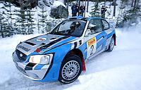 Ål 180103 - Rally NM åpning i Hallingdal - Trond Sveinsvoll og Otto Øvestad, KNA Stavanger ble nummer 2.<br /> Foto: Andreas Fadum, Digitalsport