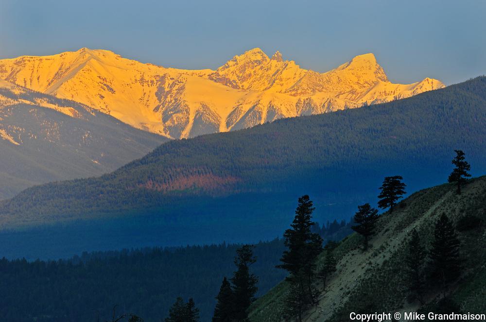 Purcell Mountains from Radium<br /> Radium<br /> British Columbia<br /> Canada