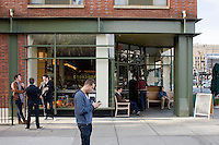 8 October, 2008. New York, NY. Customers are here in front of the Cookshop Restaurant & Bar in Chelsea, NYC, before having breakfast. <br /> <br /> ©2008 Gianni Cipriano for The New York Times<br /> cell. +1 646 465 2168 (USA)<br /> cell. +1 328 567 7923 (Italy)<br /> gianni@giannicipriano.com<br /> www.giannicipriano.com