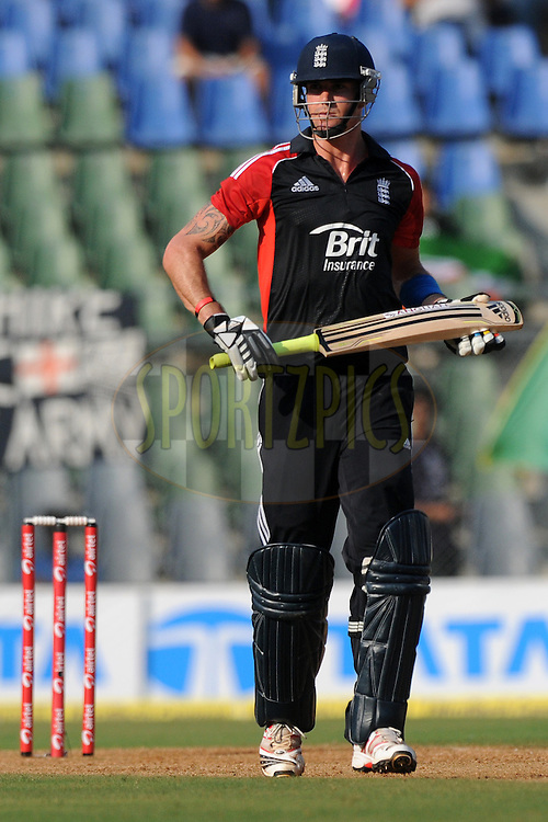 Kevin Pietersen of England bats during the 4th One Day International ( ODI ) match between India and England held at the Wankhede Stadium, Mumbai on the 23rd October 2011..Photo by Pal Pillai/BCCI/SPORTZPICS