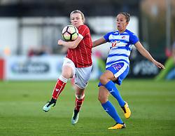 Lauren Hemp of Bristol City Women battles with Jo Potter of Reading Women - Mandatory by-line: Paul Knight/JMP - 28/10/2017 - FOOTBALL - Stoke Gifford Stadium - Bristol, England - Bristol City Women v Reading Women - FA Women's Super League