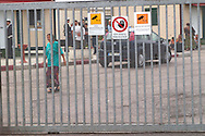 Roma camp  of via Salone  ..Rome May 15 2008    ..Roma camp di via Salone inhabited by Romani Slavic and Romanian Equipped by the municipal administration with conteiner fence and Video Guarded By 60 Television cameras. To entry a Posting Of the Town Police....